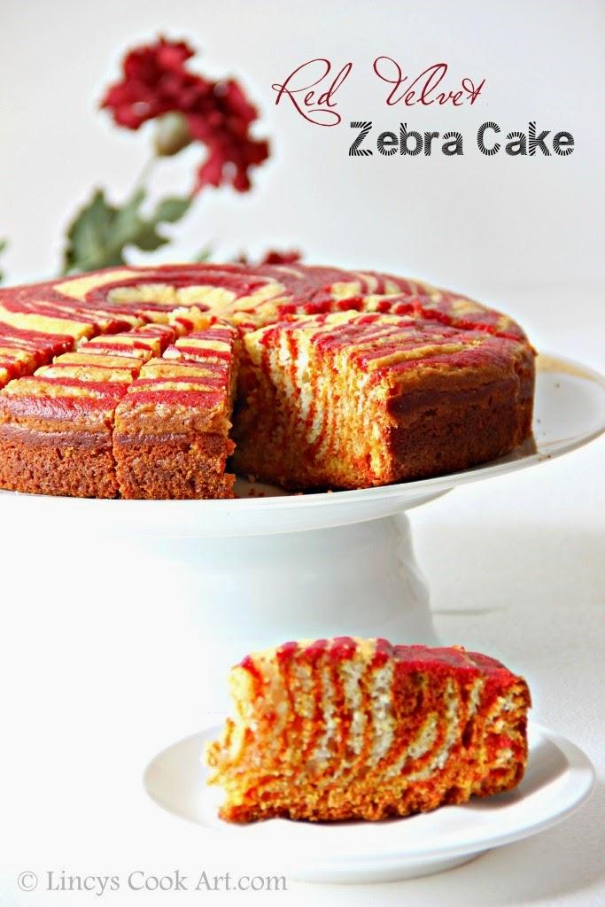 Red Velvet Zebra Cake