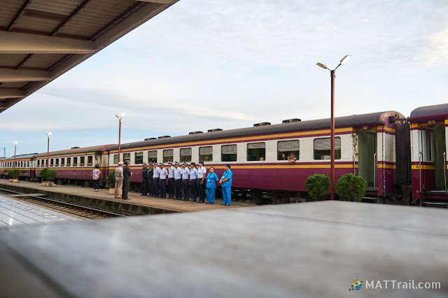 Check-in of the Thai train crew for a course in Thailand