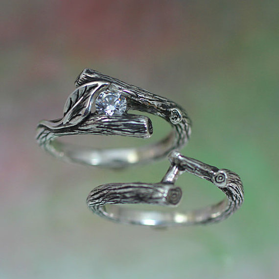branch wedding rings - photo #11