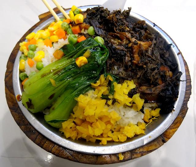 Xiamen dinner Pork belly + veggie + rice