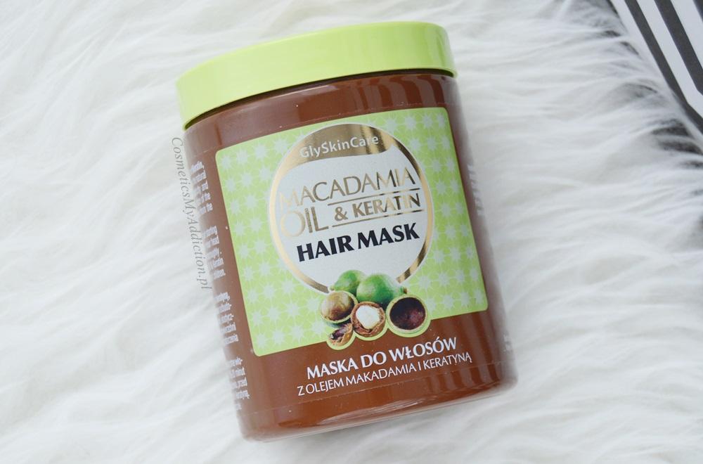 Maska do włosów z olejem makadamia i keratyną - GlySkinCare