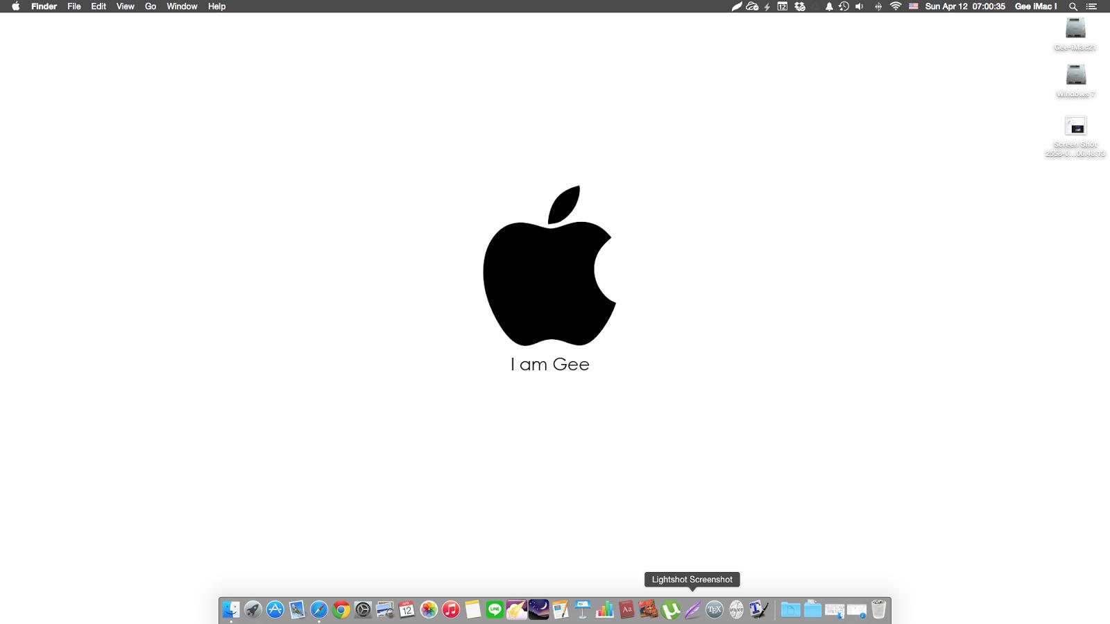 Mac Apple: การจับหน้าจอโดยใช้ App Lightshot Screenshot