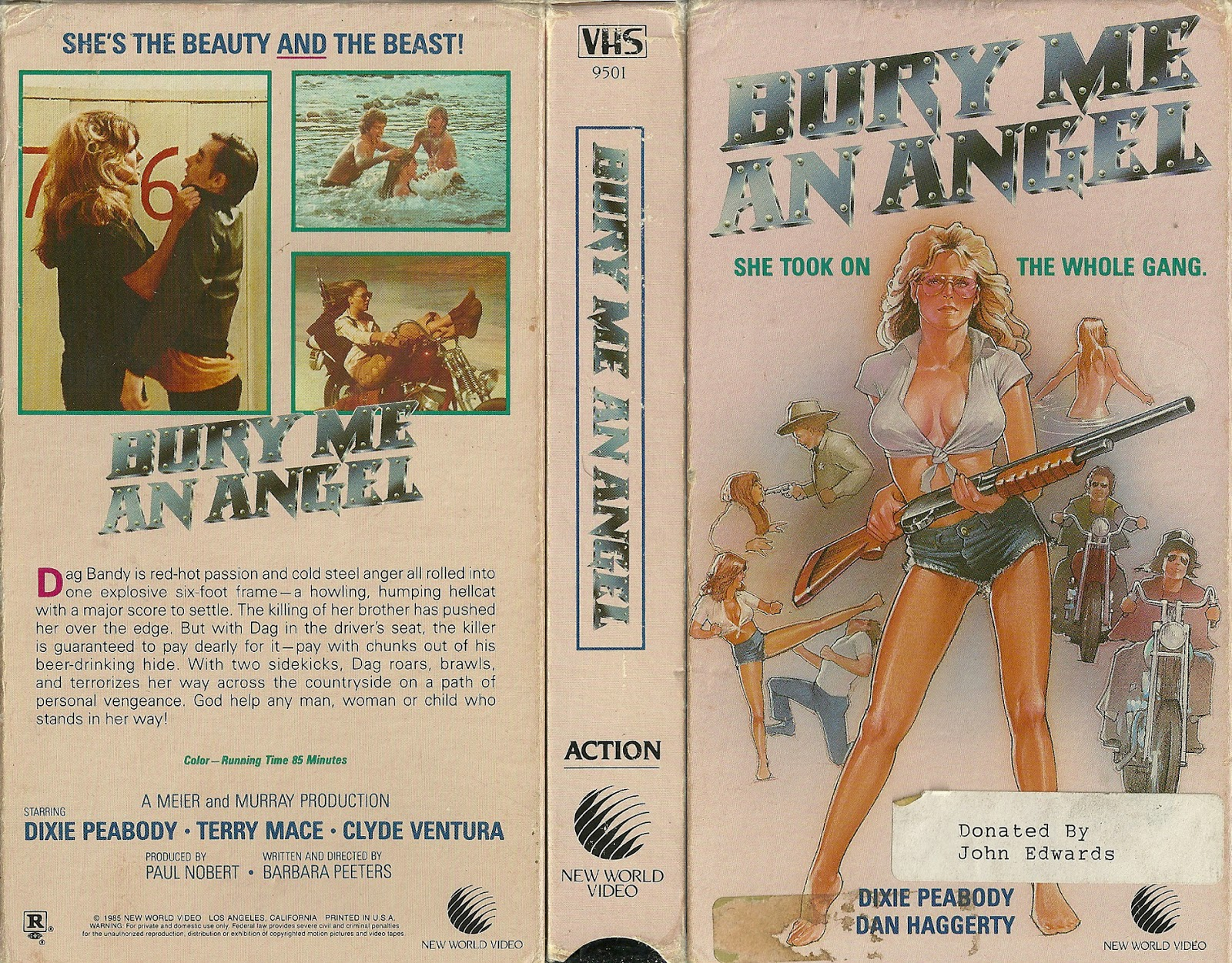 Bury Me An Angel VHS cover