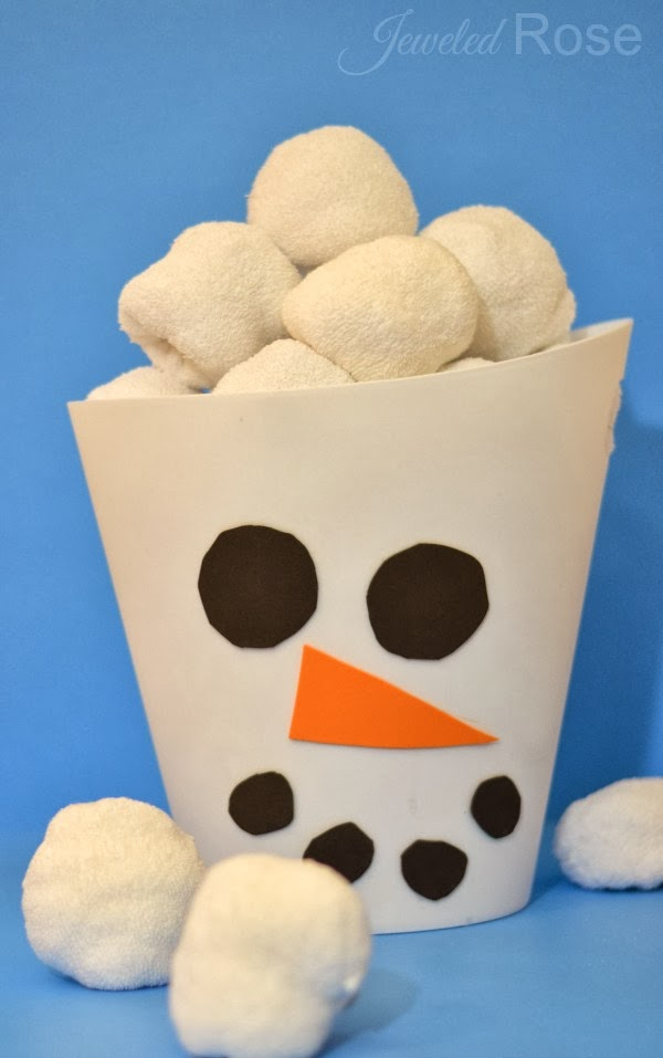 Indoor Snowball Fight Kit- my whole family have had so much fun with this easy to make game/toy