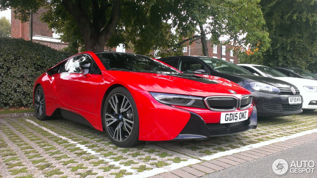 Bmw I8 Finished In Bright Red Looks Spanking