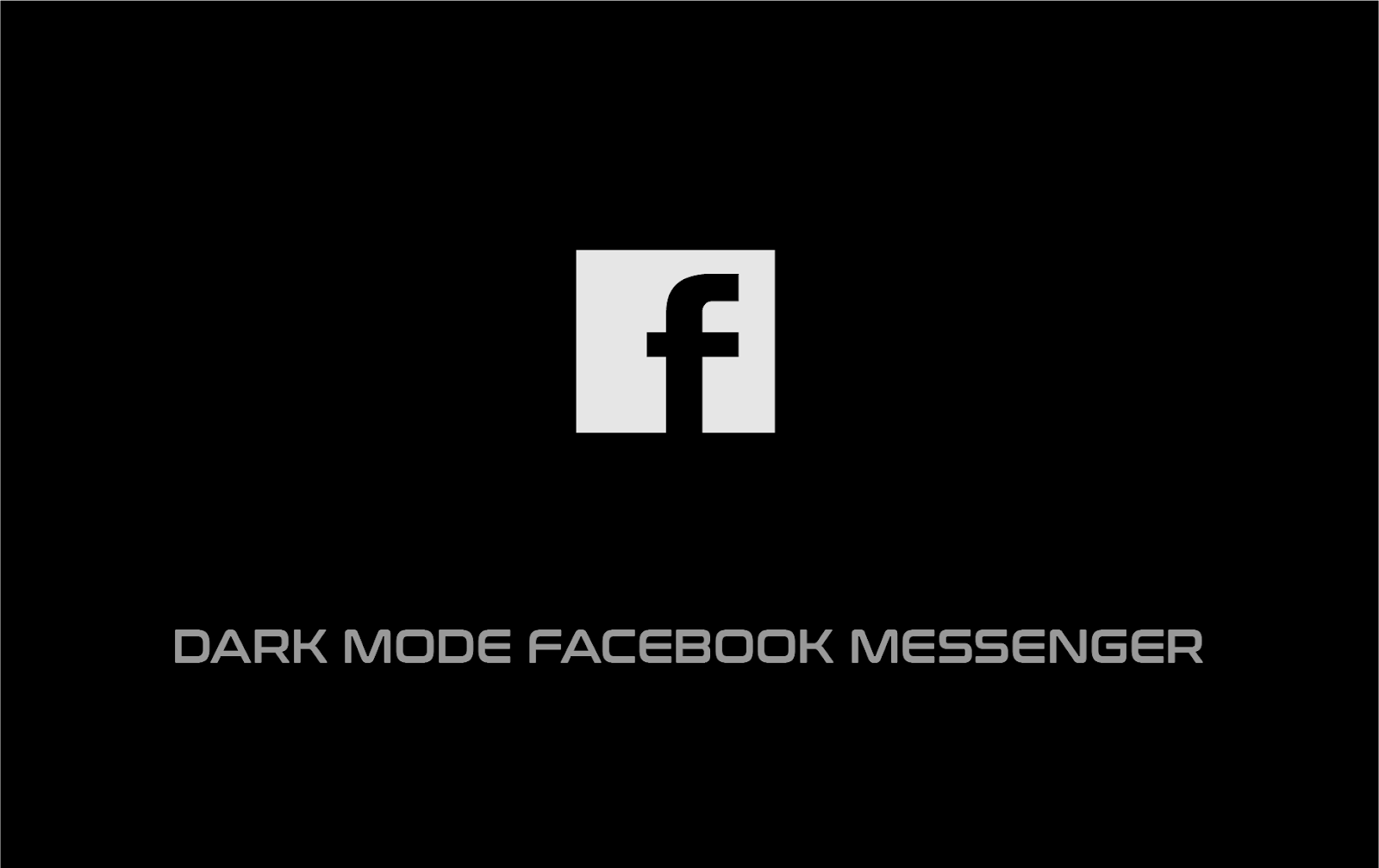dark mode facebook messenger