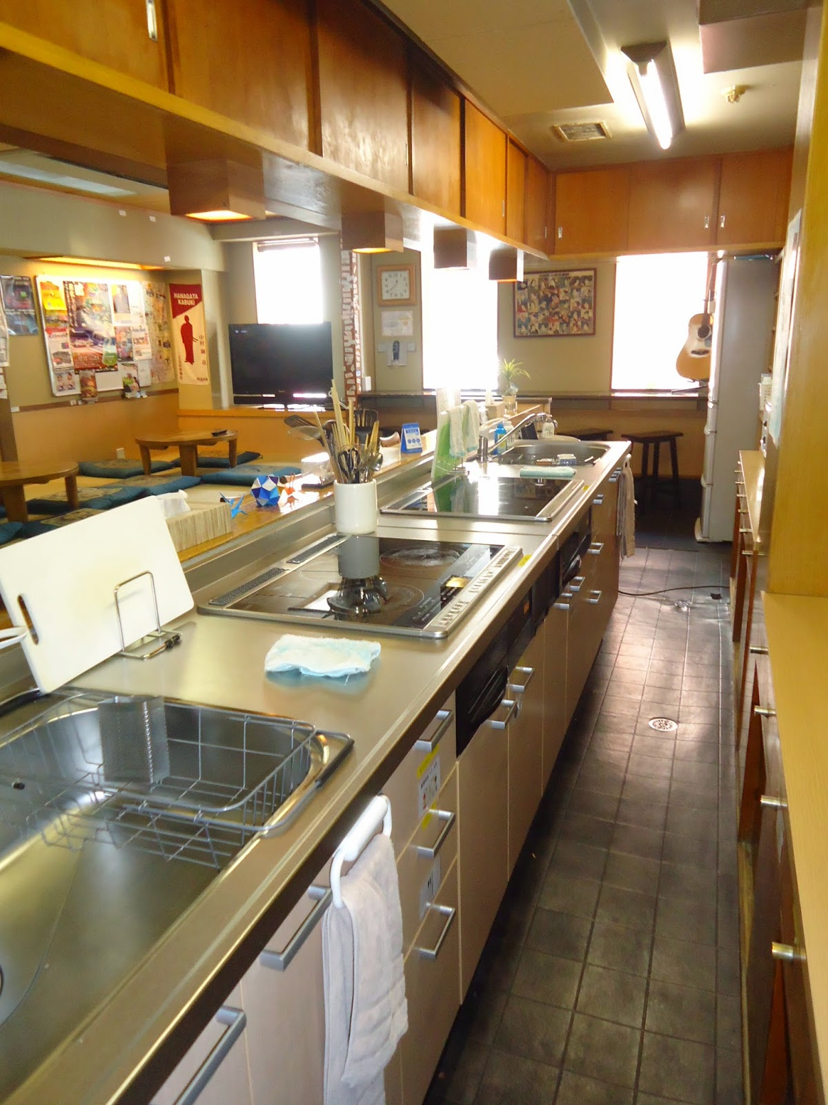 Not Only Osaka Hana Hostel Other Branches Have Nice Kitchens As Well Please Feel Free To Use Them