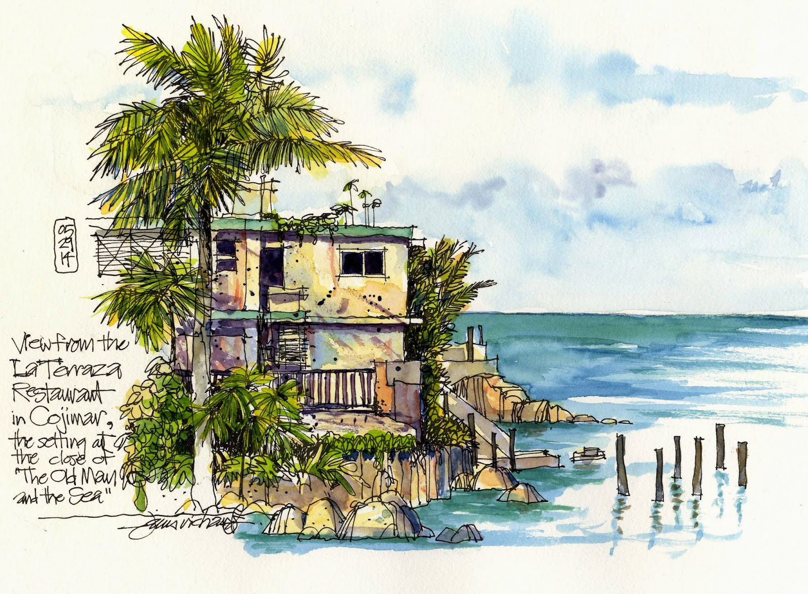 Hemingway S Cuba The View From La Terraza Urban Sketchers
