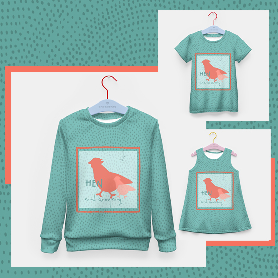 farm animals prints, tshirts and sweaters designs at live heroes