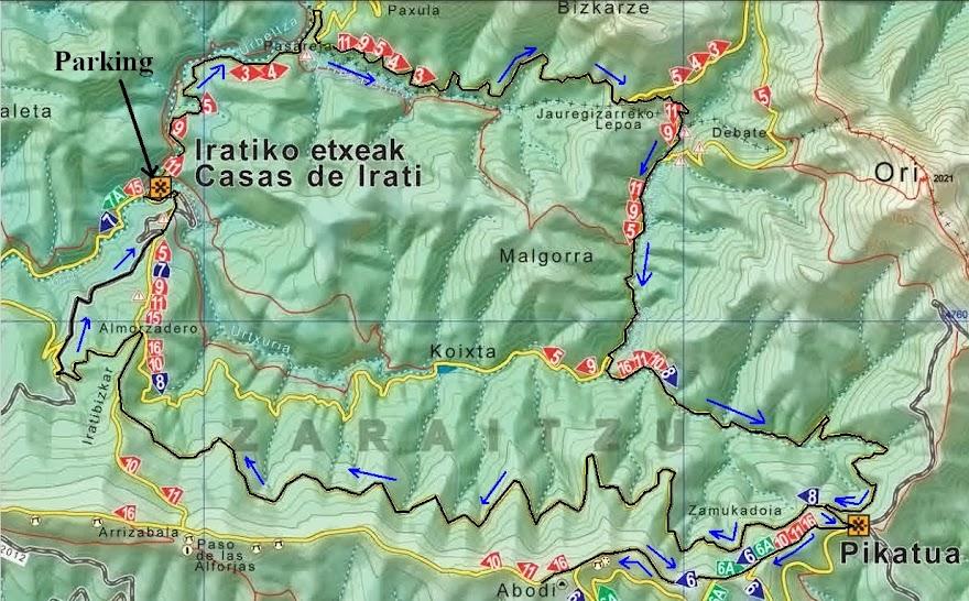 Mapa Selva De Irati.Al Filo De Lo Impresentable 19 10 2013 Ruta Btt Casas De