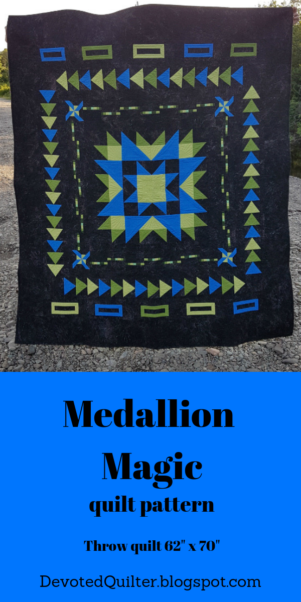 Medallion Magic quilt pattern | DevotedQuilter.blogspot.comv