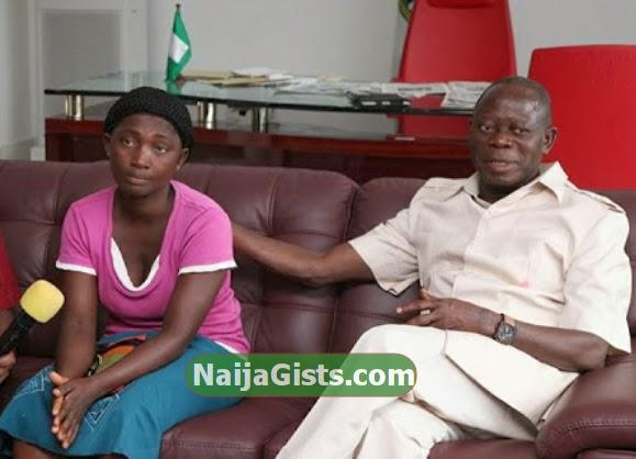 governor oshiomhole widow N2million job