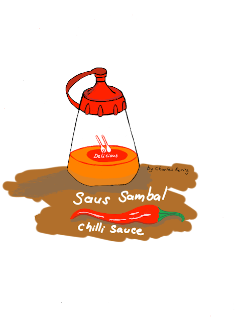 Bottle of chilli sauce