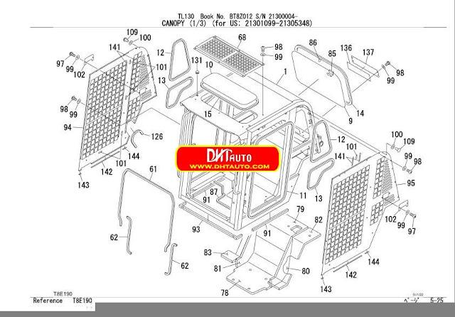 Takeuchi Tl130 Parts manual