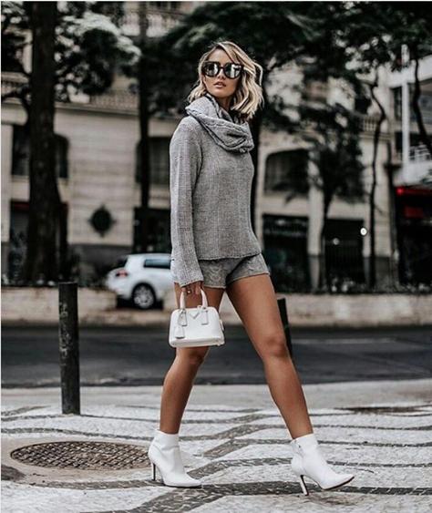 Minibag e Sapato Branco