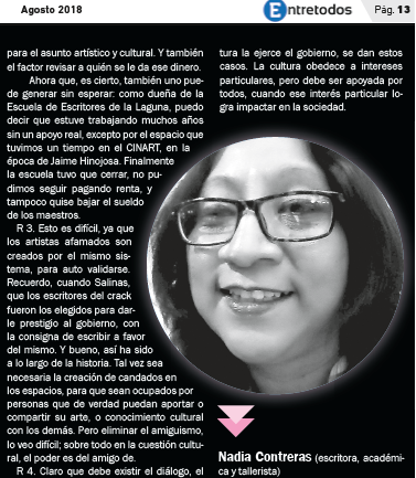 ENTREVISTA Urge dialogar para replantear el quehacer cultural