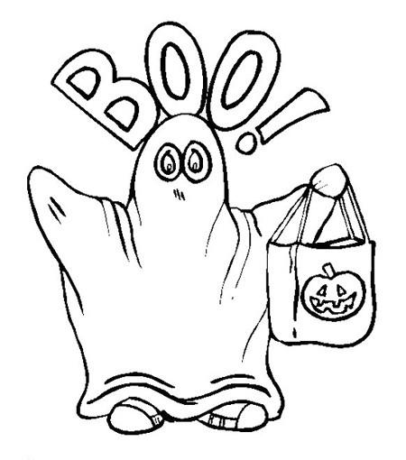 Fichas Infantiles Halloween Fantasmas Para Colorear