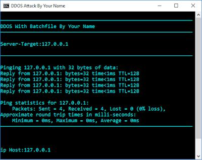 Script DDoS With Notepad Use CMD