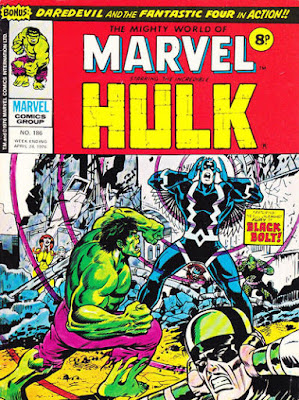 Mighty World of Marvel #186, Hulk vs Black Bolt