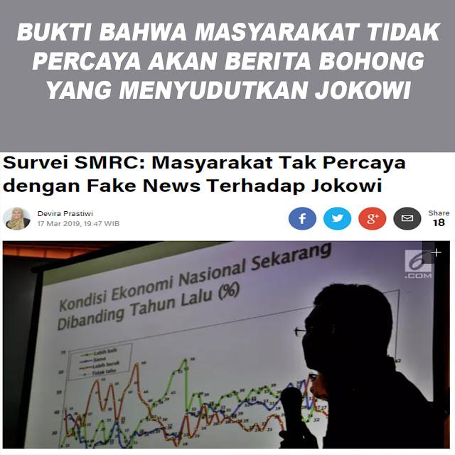 Survei SMRC: Masyarakat Tak Percaya dengan Fake News Terhadap Jokowi