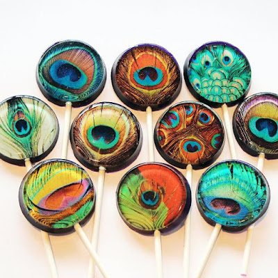 Peacock Feathers Lollipops