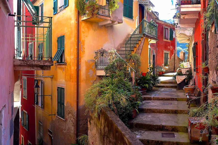 The Human Settlements Cinque Terre The Colourful Set Of