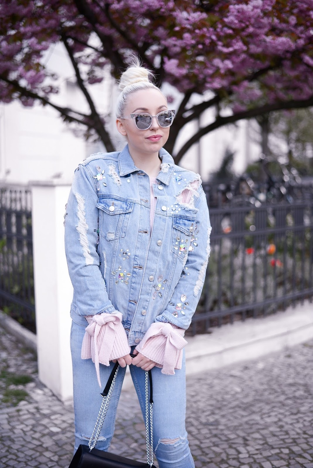 denim on denim_topshop denim jacket_embellished denim jacket