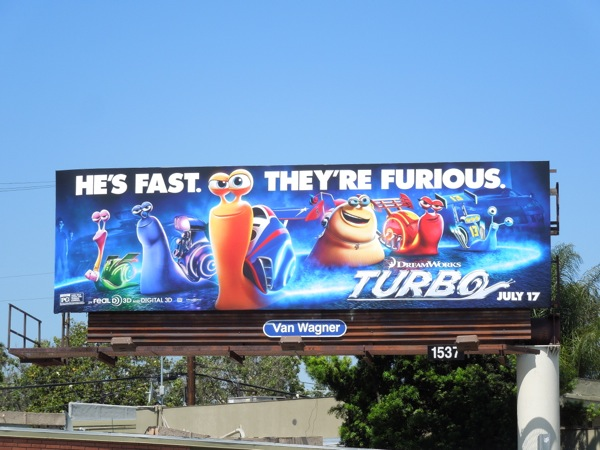 Turbo movie billboard