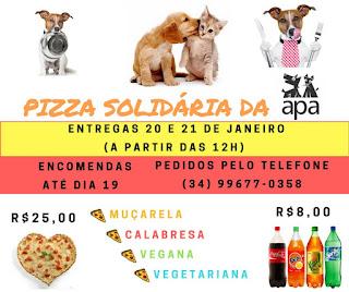 Adquira a promoção de pizzas e ajude a associação que cuida dos pet's