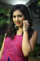 Srushti in beautiful Pink Sleeveless Dress Cute Actress Dimples ~  Exclusive 010.JPG