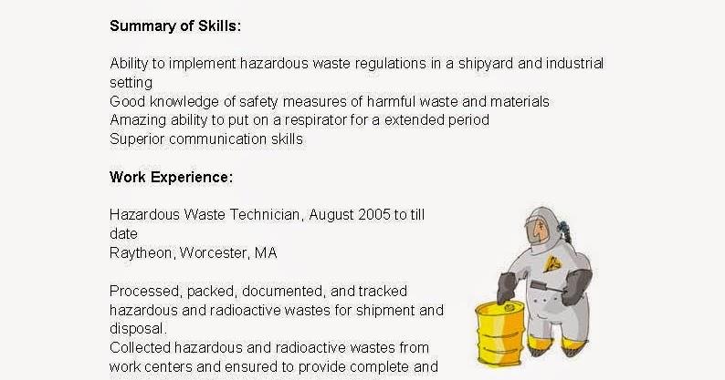 Best Hazardous Waste Technician Cover Letter Contemporary - New