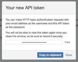 To generate JIRA API Token