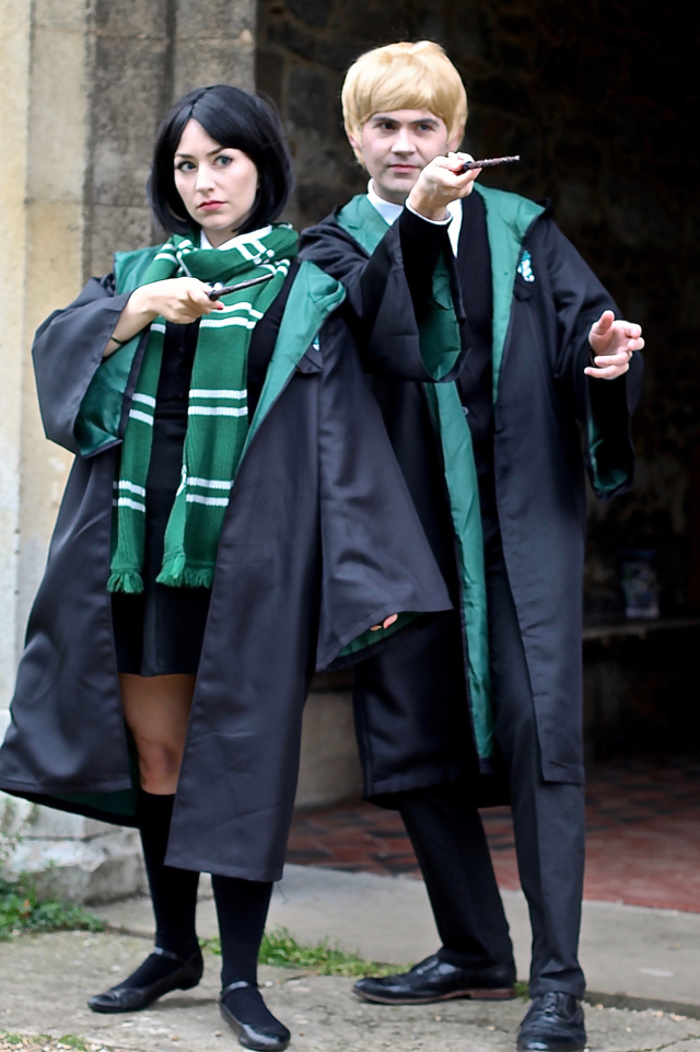 Harry Potter easy homemade costumes Draco Malfoy Pansy Parkinson slytherins