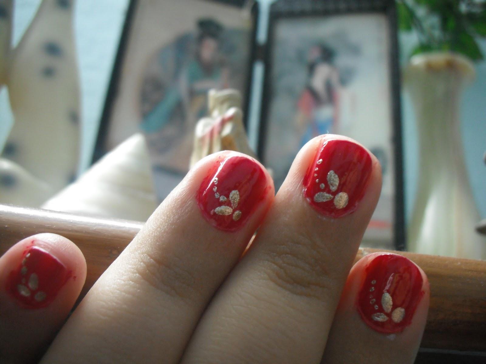 Vivacious Flair Nail Art For Very Short Nails