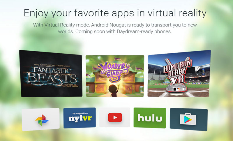 Android Nougat Daydream VR