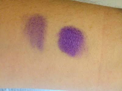 Swatches of Limecrime Eyeshadow Helper a waterproof eyeshadow primer