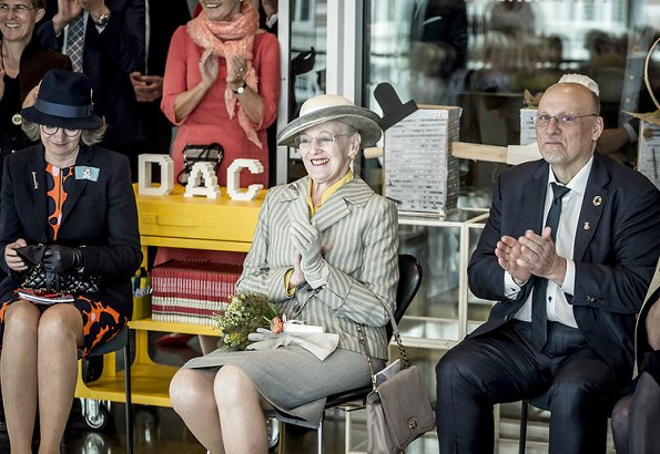Queen Margrethe of Denmark attended the opening ceremony of Copenhagen - BLOX and BLOXHUB which is an urban development project of Realdania