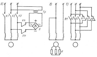 Электроторможение при переменном токе