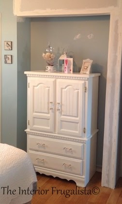 Small Armoire Makeover Before Picture