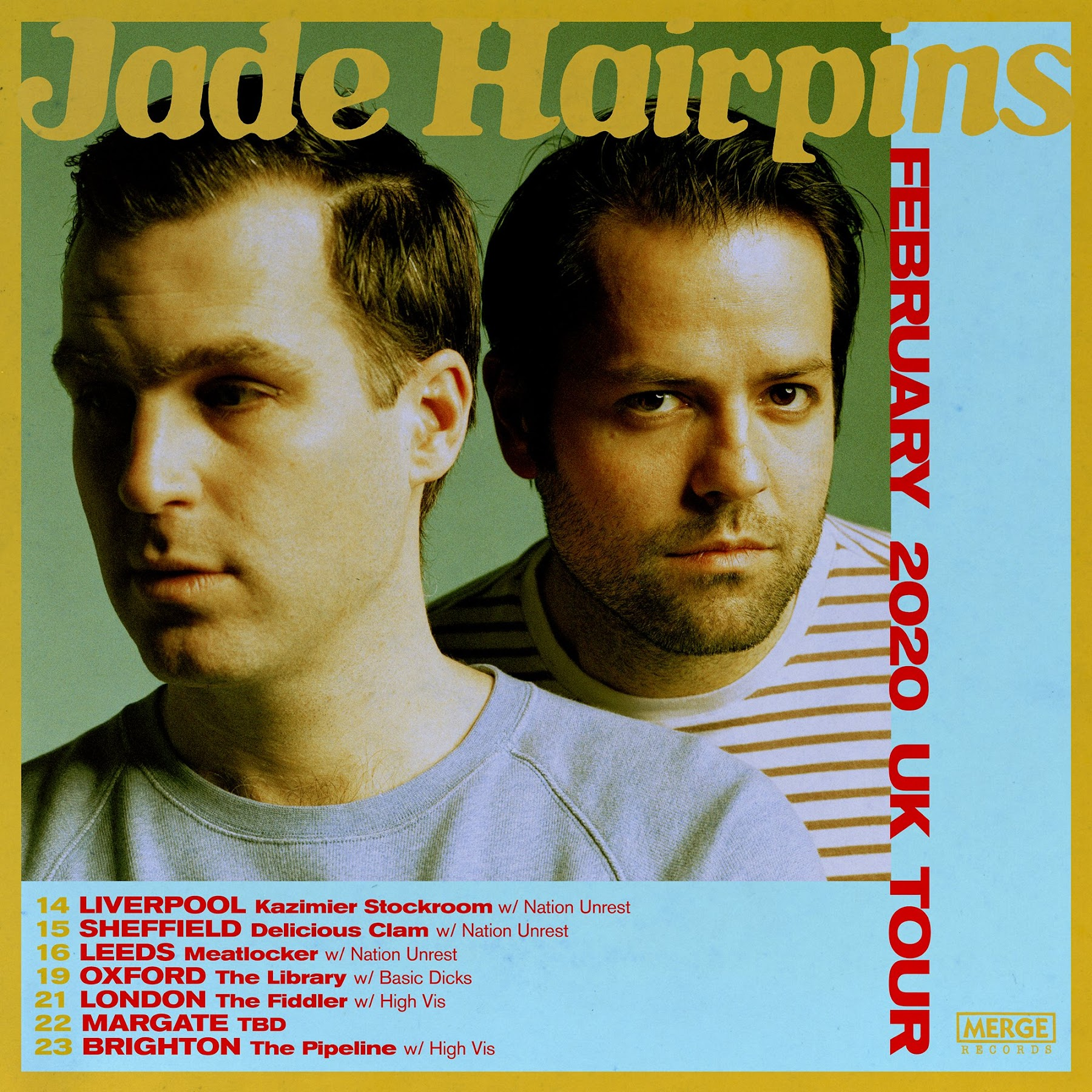 Jade Hairpins Revealed To Be Jonah Falco Mike Haliechuk From F Cked Up Plot February 2020 Uk Tour Behind 2018 12 Inch Merge Records