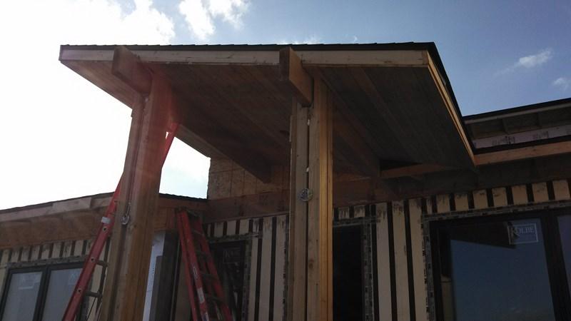 New Lizer Homestead Exterior Finish Work Starts