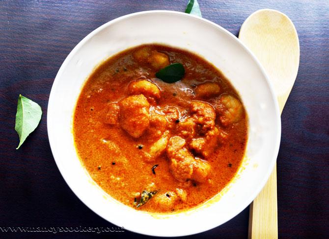 Shrimp / prawn Curry - Indian style