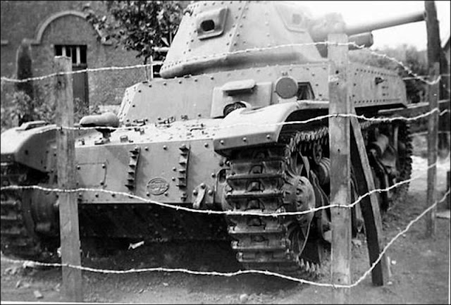 17 May 1940 worldwartwo.filminspector.com Belgian Army tank