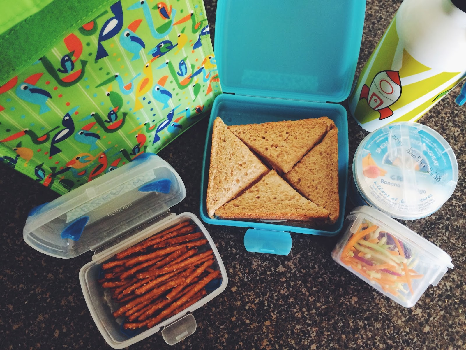 first packed lunch for a play school for my toddler