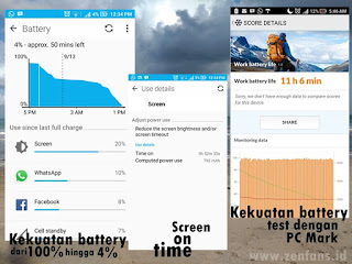 kekuatan penggunaan baterai ZE520KL