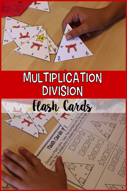 Multiplication and Division facts mastery is accelerated through the use of these triangle flash cards and included activities.  ★ BENEFITS OF TRIANGLE FLASH CARDS ★  • They reinforce the concept of related facts. • They reinforce the commutative property. (2x3=6 and 3x2=6) • They enhance understanding of multiplication and division being inverse operations. • They make learning division facts MUCH easier and faster. • Multiplication and Division Triangle may be used for: ♥ Individual Use ♥ Small Group ♥ Entire Class ♥ Homework