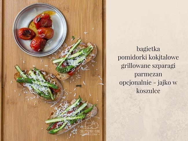 Bruschetta z grillowanymi szparagami / Chilli, Czosnek i Oliwa