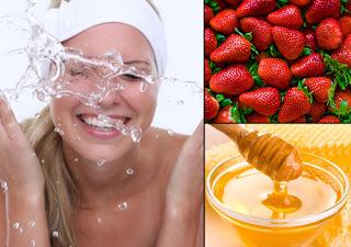 Masque contre l'acné au miel et aux fraises