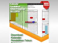 Download Kalender Pendidikan Tahun Pelajaran 2017/2018 Format Excel Terbaru