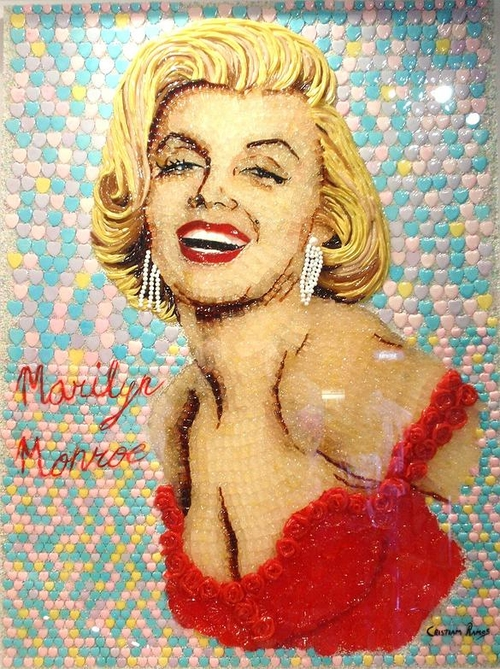 08-Marilyn-Monroe-cristiam-Ramos-Candy-Nail-Polish-Toothpaste-for-Sculptures-Paintings-www-designstack-co